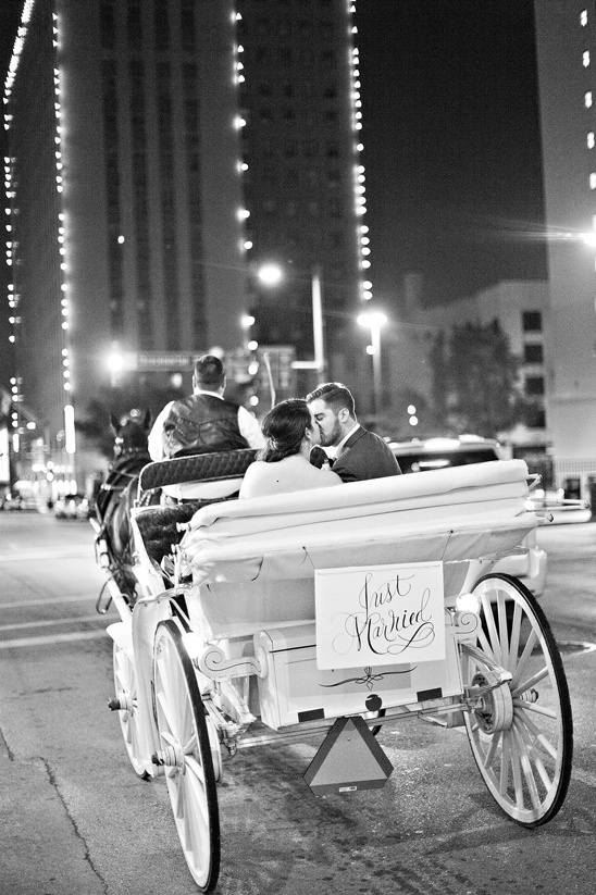 horse drawn carriage wedding exit