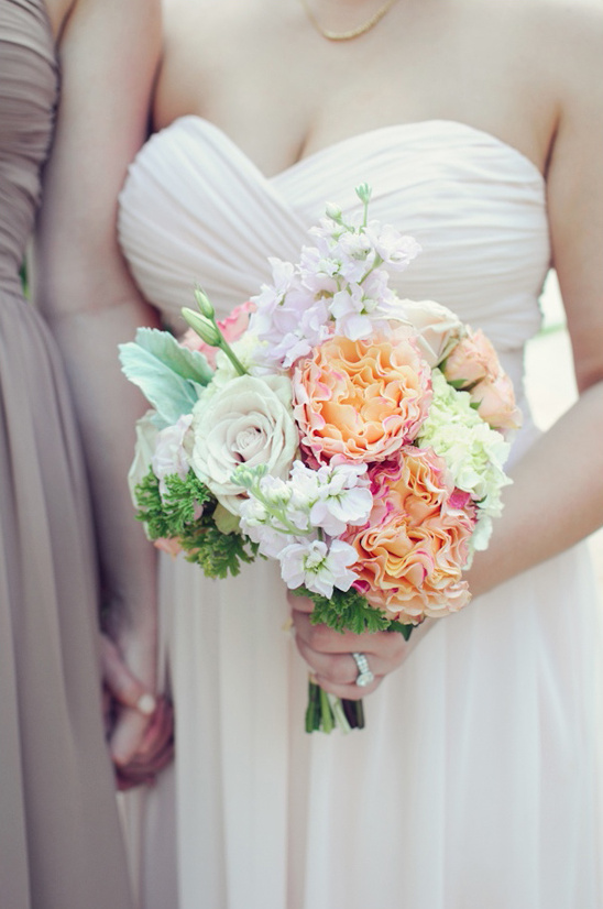 pastel colored bouquet