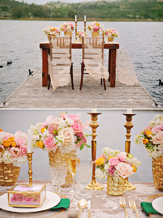 lake side sweetheart table