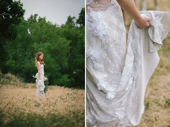 organic bridal session