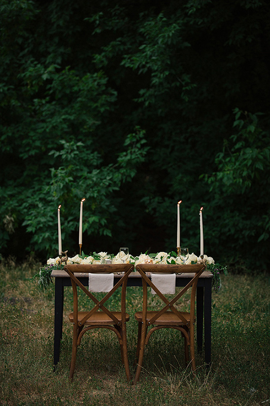 intimate organic reception table
