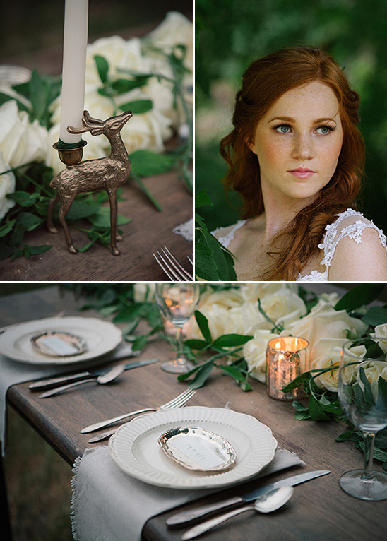 romantic organic table decor