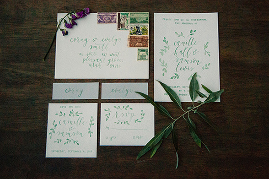 organic calligraphy stationery
