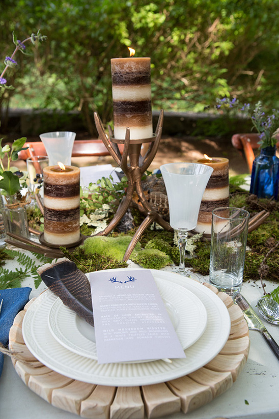 antler and candle centerpieces