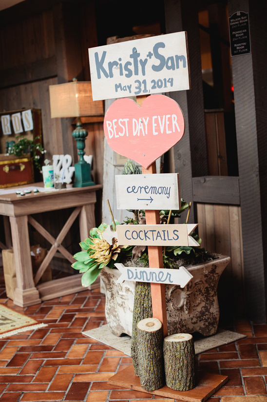 super cute rustic wedding sign