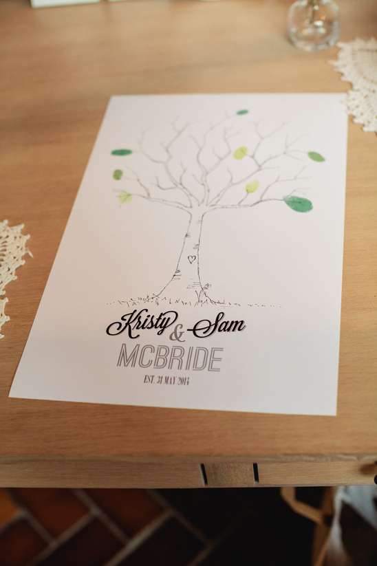 finger print tree guestbook