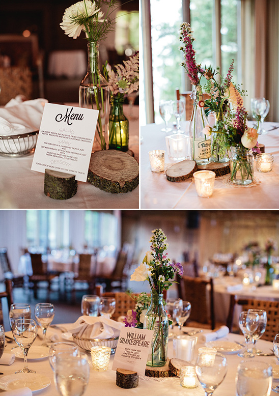 rustic wildflower centerpiece