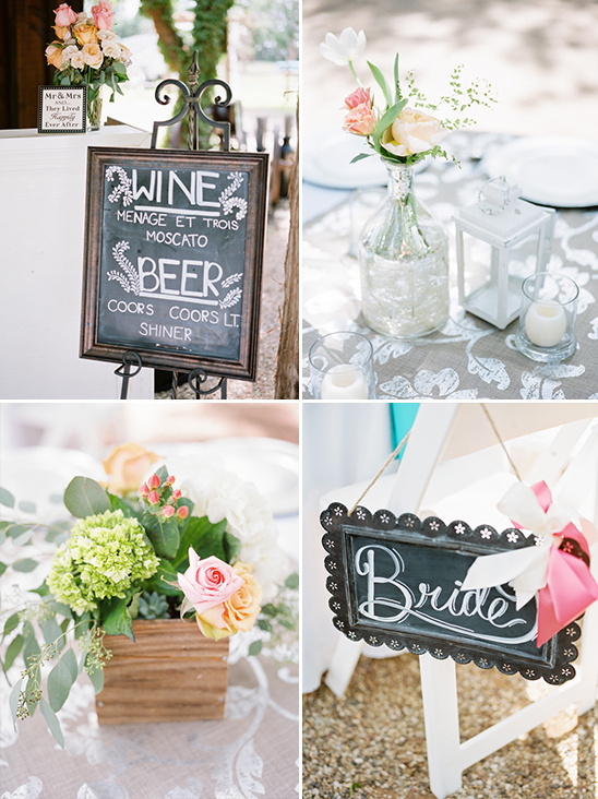 chalkboards and flower boxes