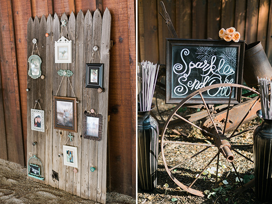 photo display and sparkler station