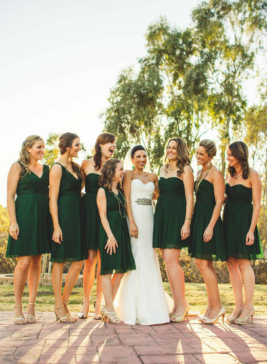 How to have a new years eve wedding emerald bridal party junglespirit Gallery