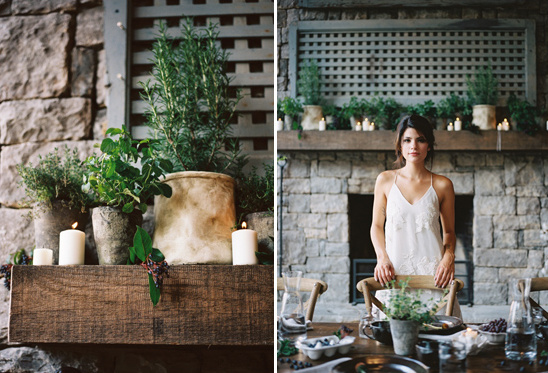organic bridal shower decor