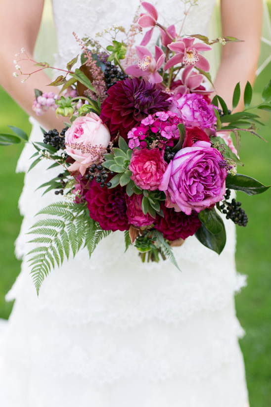 burgandy and pink bouquet