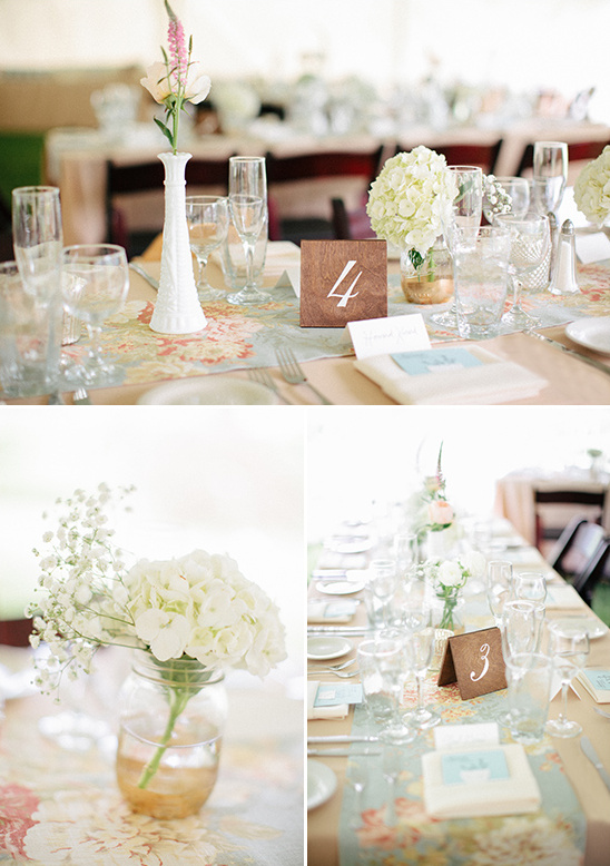 pastel shabby chic table decor
