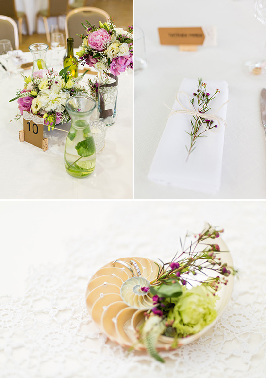 organic and whimsical centerpieces