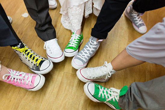 wedding party reception converse
