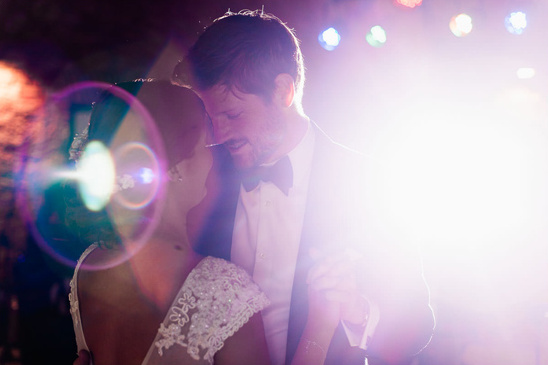 dramatic reception lighting for the first dance