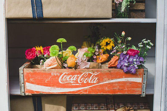 vintage coca cola flower box