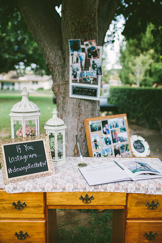 instagram and guestbook table