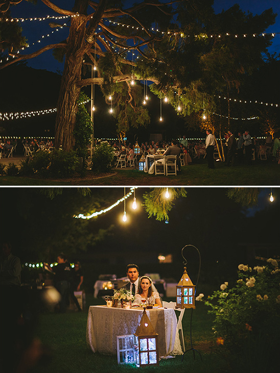 whimsically light outdoor wedding reception