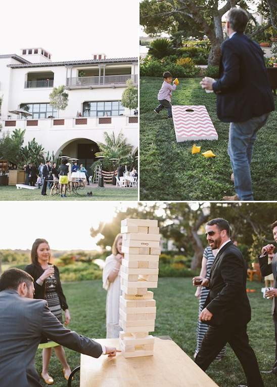 cocktails and yard games