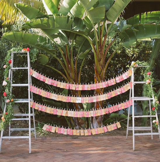 step ladder escort card stand