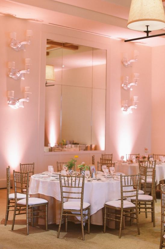 light pink dinner wedding reception