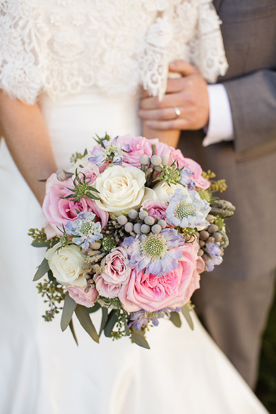 pink white and lavender bouquet