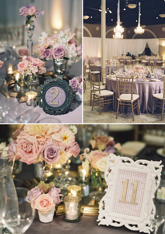 light purple and pink reception
