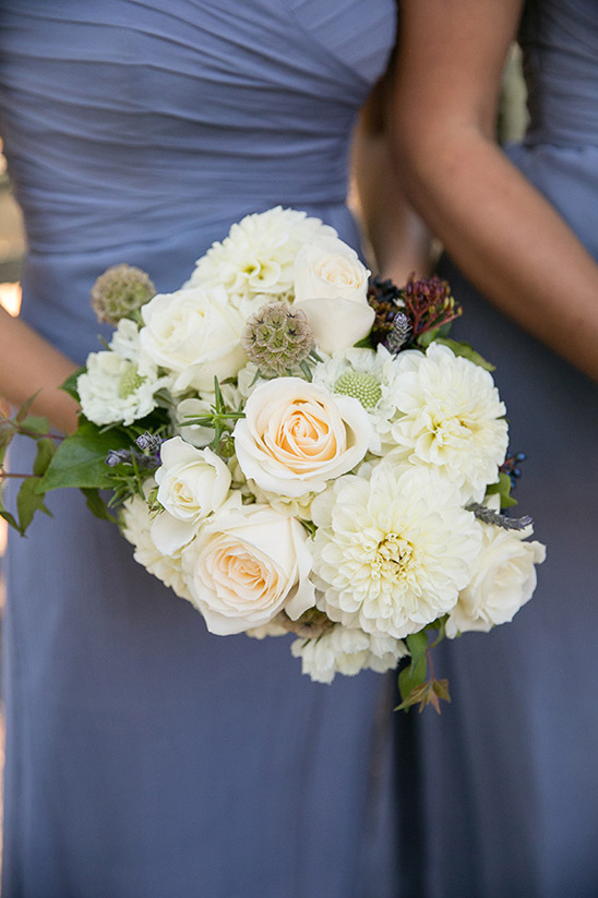 charming all white bouquet