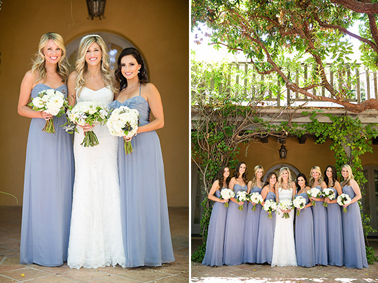 perrywinkle floor length bridesmaids