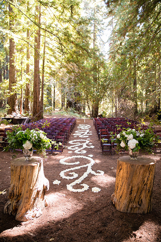 elegant forest wedding ceremony