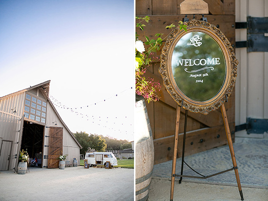 high class barn wedding