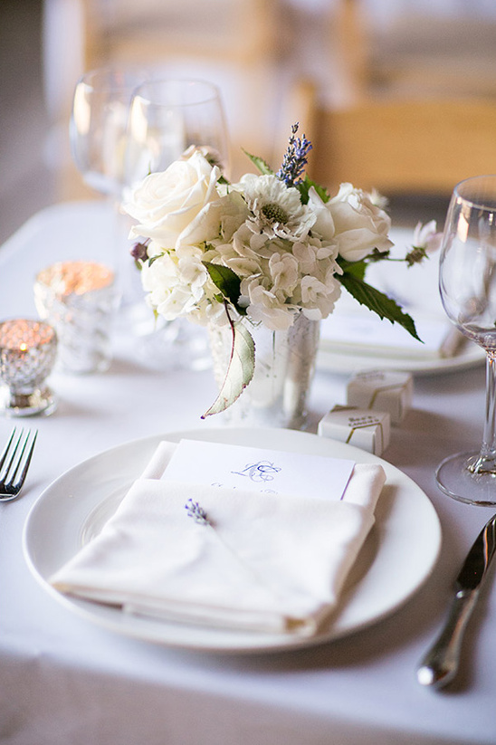 formal white dinner setting