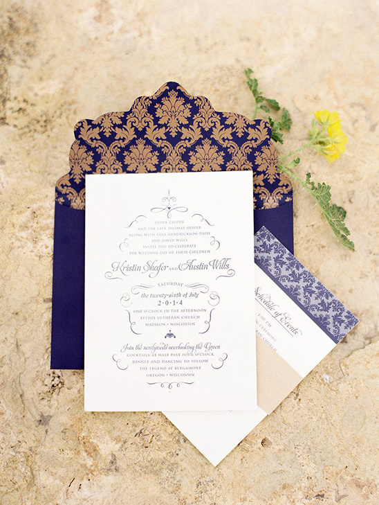 elegant purple wedding invite