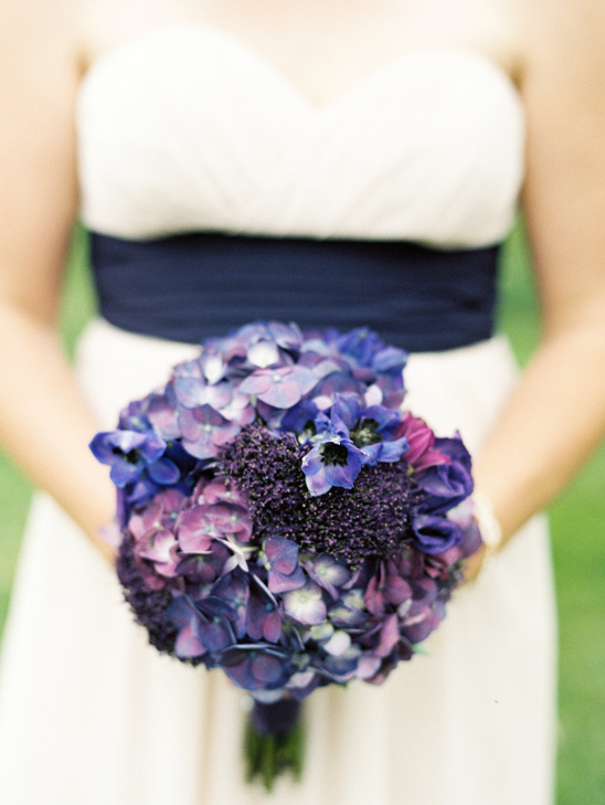 deep purple bridesmaid bouquet
