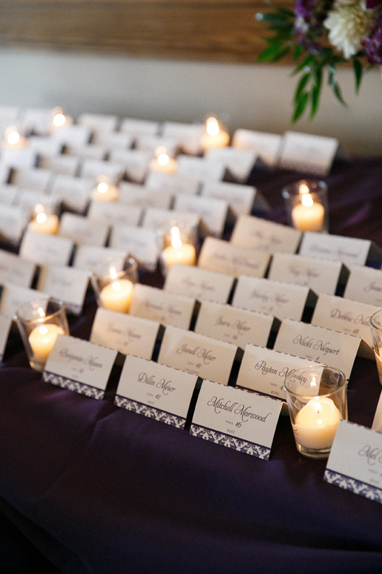 candle lit escort cards