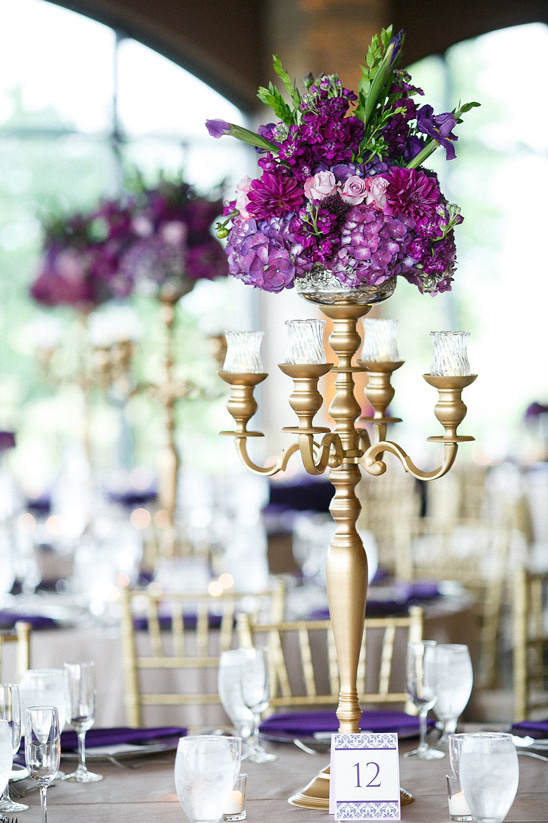 glamorous candle stick centerpieces
