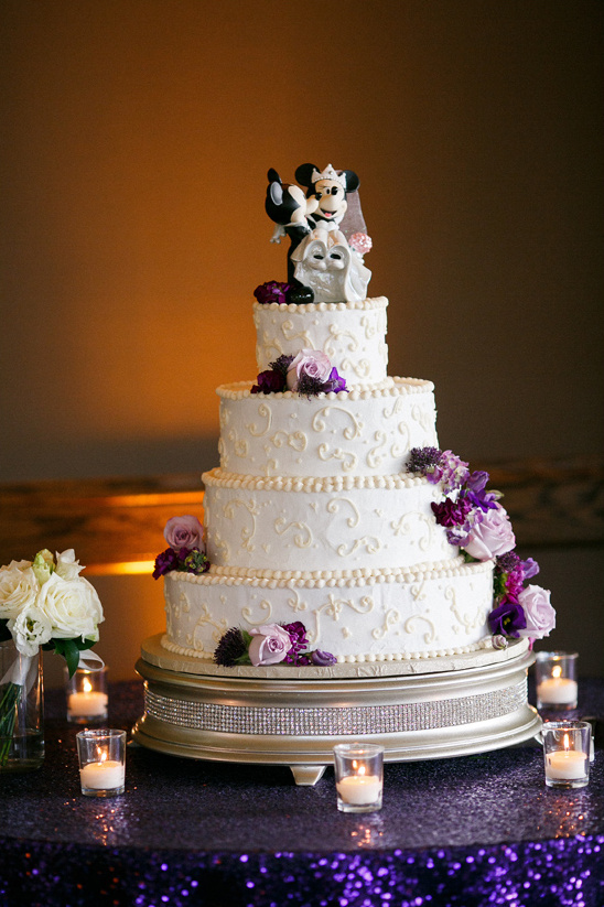 disney wedding cake stand magical purple and gold wedding 13589