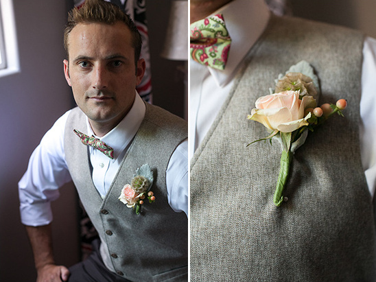 grooms attire and rose boutonniere
