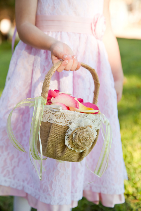 you can make this flower girl basket