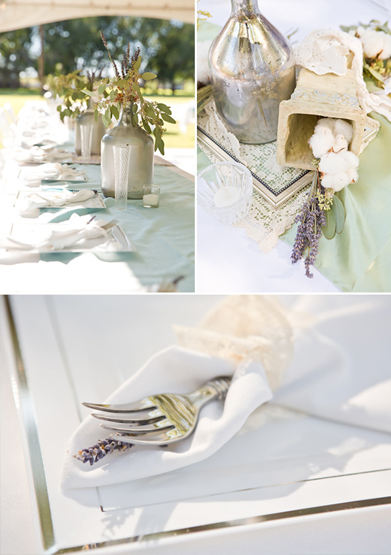 shabby chic glam tablescape