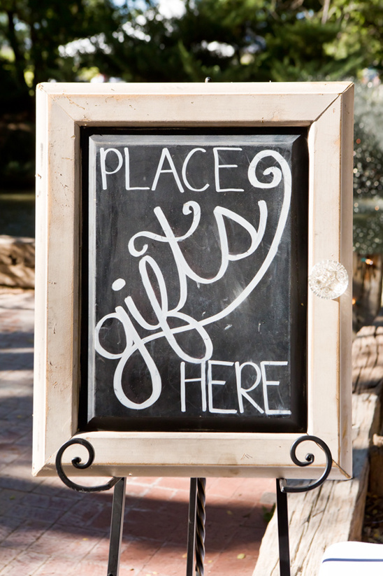 gifts chalkboard sign