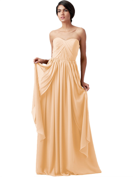 champange bridesmaid dress