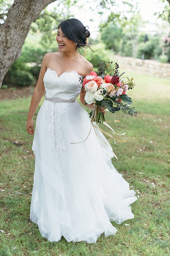 lace wedding gown with sash