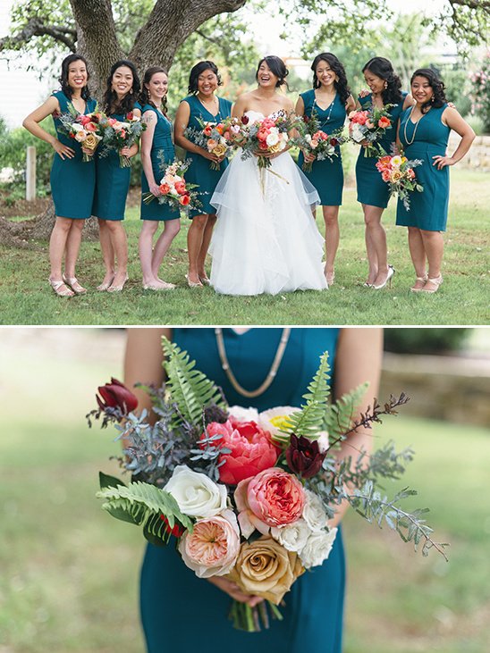 Teal And Gold Modern Wedding