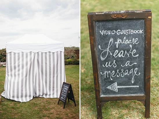 video guestbook tent