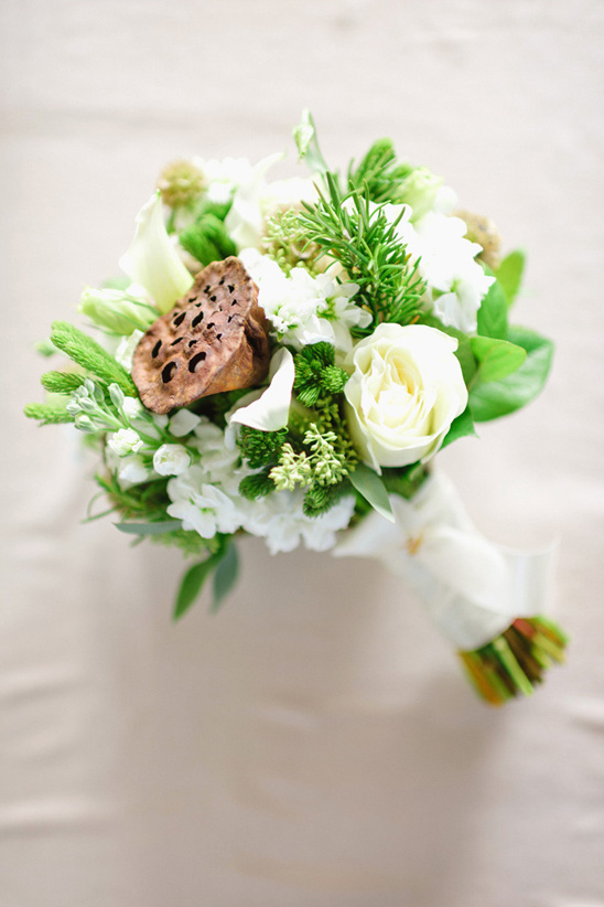 lotus pod and white bouquet