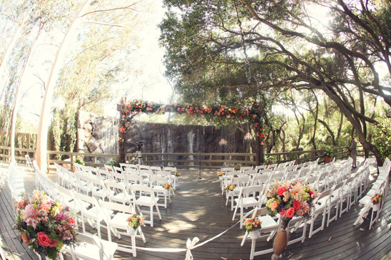 outdoor patio wedding ceremony