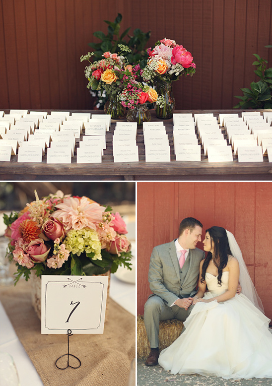 simple escort cards and table numbers