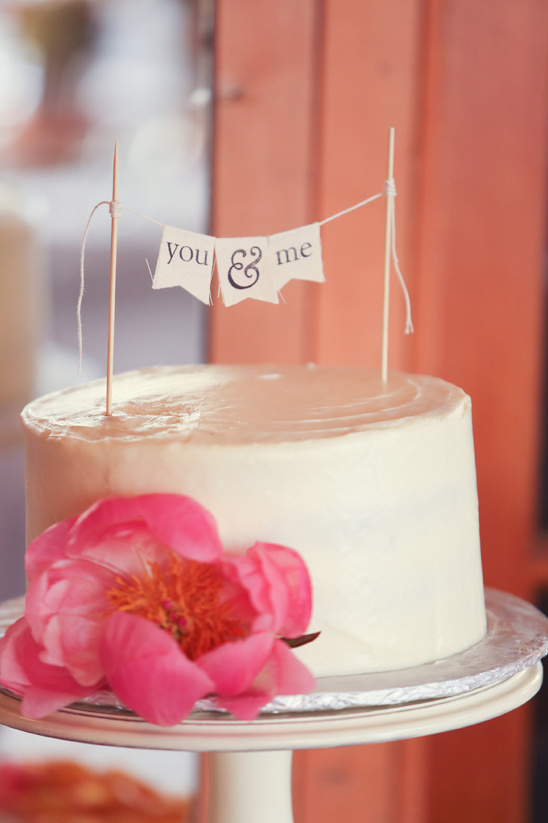 sweet and simple wedding cake by Bittersweet Treats